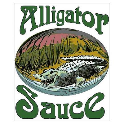 Alligator Sauce Logo Print Poster