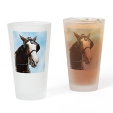 Clydesdale Horse Drinking Glass