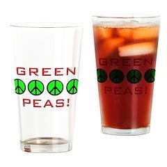 Grean Peas Drinking Glass