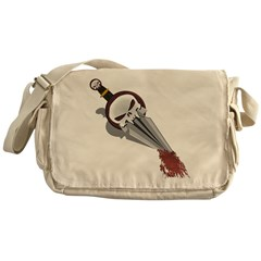 Sword in the Chest Messenger Bag
