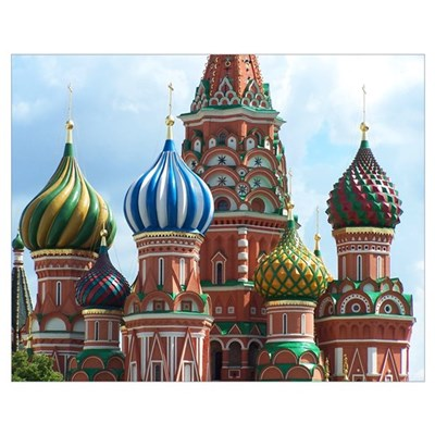 St. Basil Domes - Moscow, Russia Poster