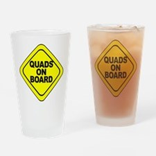Quads on Board Drinking Glass