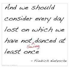Nietzsche on Swing Dance Poster