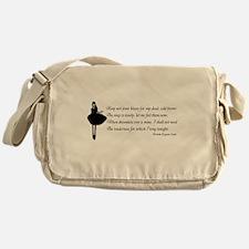Keep not your kisses Messenger Bag