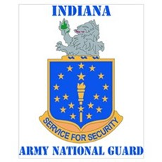 DUI-INDIANA ARMY NATIONAL GUARD WITH TEXT Mini Pos Poster