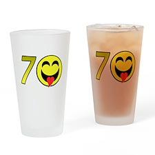 70th Birthday Drinking Glass