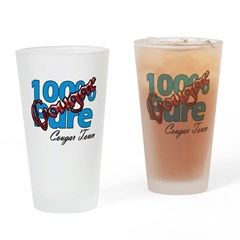 100% Pure Cougar Drinking Glass