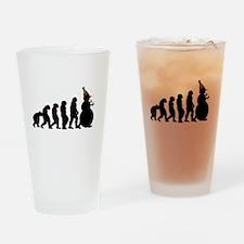 Evolution of Snowman Drinking Glass
