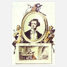 Marquis de Sade Portrait Print 11x17