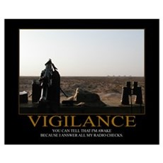 Vigilance Motivational Framed Print