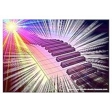 Piano Supernova Poster