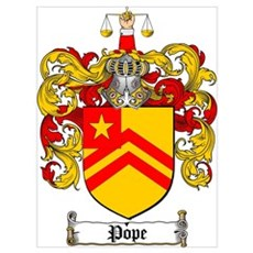 Pope Family Crest Poster