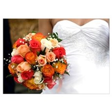 AB001-WEDDING BOUQUET Poster