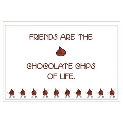 Friends and chocolate Canvas Art