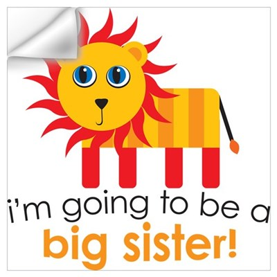 Big Sister To Be Lion Wall Decal