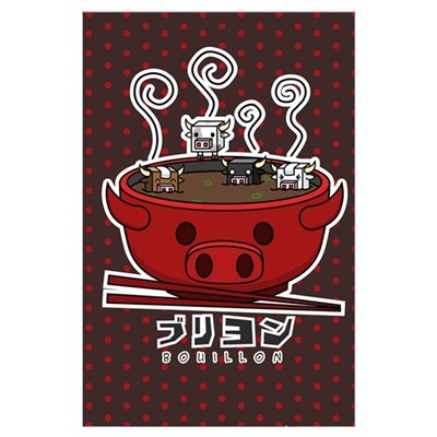 Cow Cube Soup Poster