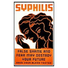 Vintage Syphilis Poster