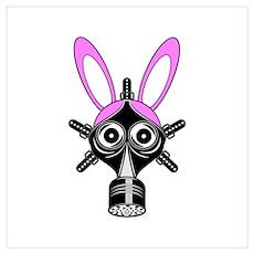 Gas Mask Rabbit Poster