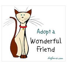 Wonderful Friend (Cat) Poster