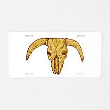 longhorn bull skull Aluminum License Plate