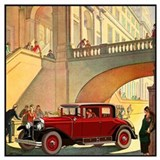 1920's cars Wrapped Canvas Art