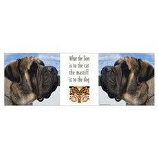 Majestic Mastiff Profile Canvas Art