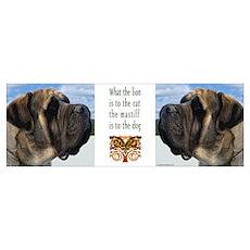 Majestic Mastiff Profile Poster