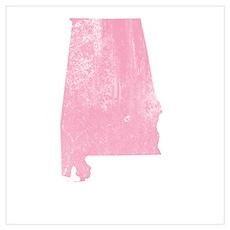Vintage Grunge Pink Alabama Poster