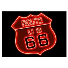 Route 66 Neon Poster