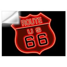 Route 66 Neon Wall Decal