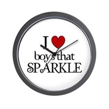 I heart boys that sparkle Wall Clock