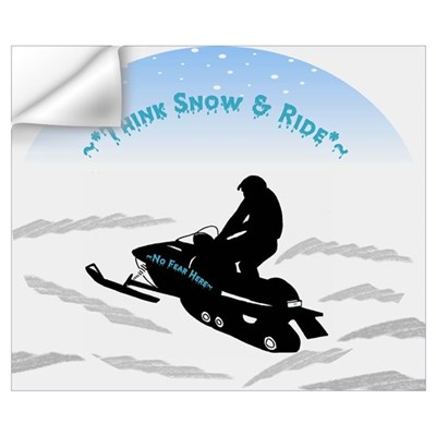 Think Snow and Ride Snowmobiling Wall Decal