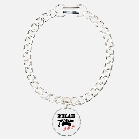 Custom Kindergarten Nail Charm Bracelet, One Charm