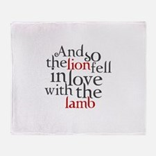 The lion fell love with lamb Throw Blanket