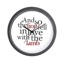 The lion fell love with lamb Wall Clock