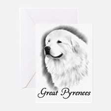 Great Pyrenees Greeting Cards (Pk of 20) Charcoal