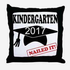Custom Kindergarten Nailed It Throw Pillow