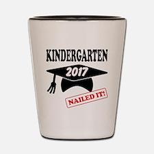 Custom Kindergarten Nailed It Shot Glass