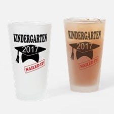 Custom Kindergarten Nailed It Drinking Glass
