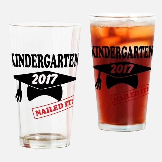 Custom Kindergarten Nailed It Drinking Glass
