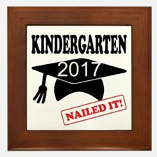 Custom Kindergarten Nailed It Framed Tile