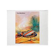 Wild West Hot Dry Desert Throw Blanket