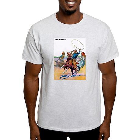 Wild West Cowboy Bear Roping Light T-Shirt