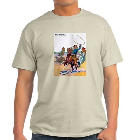 Wild West Cowboy Bear Roping Light T-Shirt