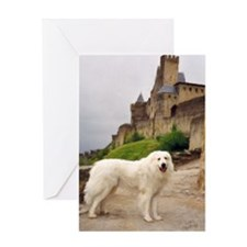 Great Pyrenees Greeting Card - Carcassonne