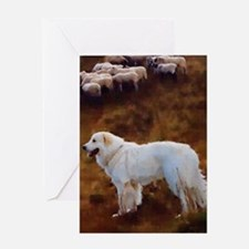 Great Pyrenees Greeting Card - Sheep Guardian