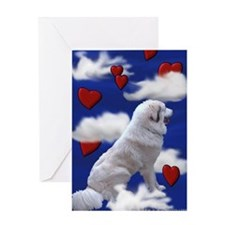 Great Pyrenees Greeting Card - In The Clouds