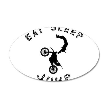 Eat Sleep Jump FMX 35x21 Oval Wall Decal