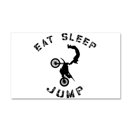 Eat Sleep Jump FMX Car Magnet 20 x 12