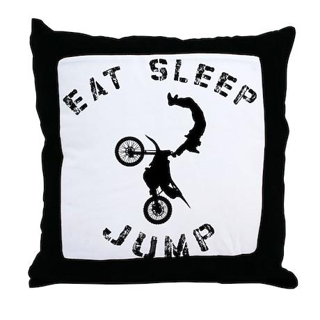 Eat Sleep Jump FMX Throw Pillow